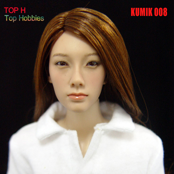 цена на 1/6 Head Sculpt KUMIK 008 Hot Sideshow Toys Fit 12 Inch Phicen HT Toys Action Figures TTL Enterbay Custom female girl