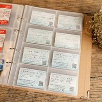 40pcs/lot 305mm*240mm collect the train plane travel ticket coin collection album Banknotes transparent photo album