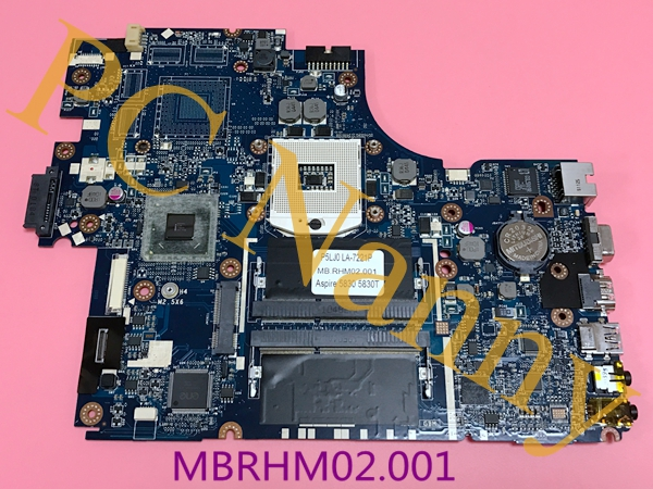 MBRHM02001 P5JL0 LA-7221P For Acer Aspire 5830 Laptop Motherboard Tarjeta Madre With intel HD Graphics DDR3 S989 HM65