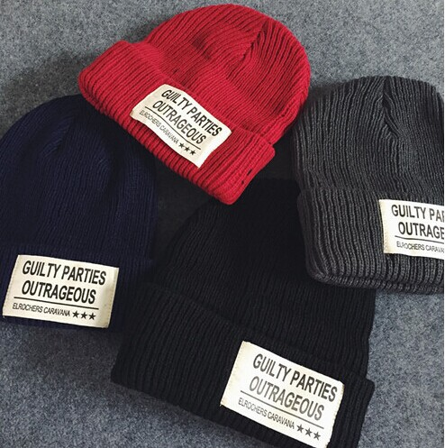 Street Beat Korean Alphabet Labels Warm Autumn And Winter Knit Hat Cap Wool Style Tide Brand Hats Winter Wool Hat Wool Cap Cap Wash Cap Campcaps For Large Heads Aliexpress