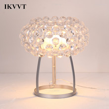 IKVVT Modern Acrylic Desk Lamp Personality Loft Bedroom Living Room Dining Room Office Table Lamp Home Decor Light Fixture(China)
