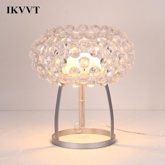 IKVVT Modern Acrylic Desk Lamp Personality Loft Bedroom Living Room Dining Room Office Table Lamp Home Decor Light Fixture