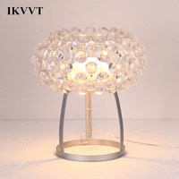IKVVT Modern Acrylic Desk Lamp Personality Loft Bedroom Living Room Dining Room Office Table Lamp Home Decor Light Fixture