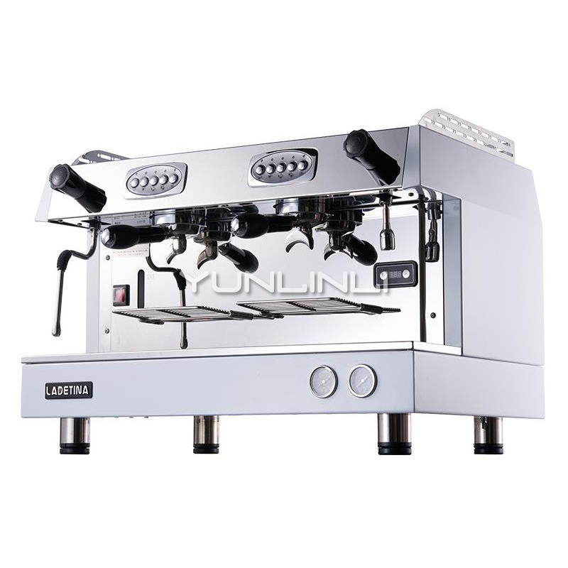 Commercial Semi Automatic Espresso Machine Double headed Italian Coffee Maker DZ 2A
