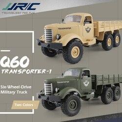 JJRC Q60 1:16 RC Lkw Fernbedienung Auto 2,4G 6WD Verfolgt Off-Road Military Lkw RTR spielzeug für kinder ferngesteuerten autos
