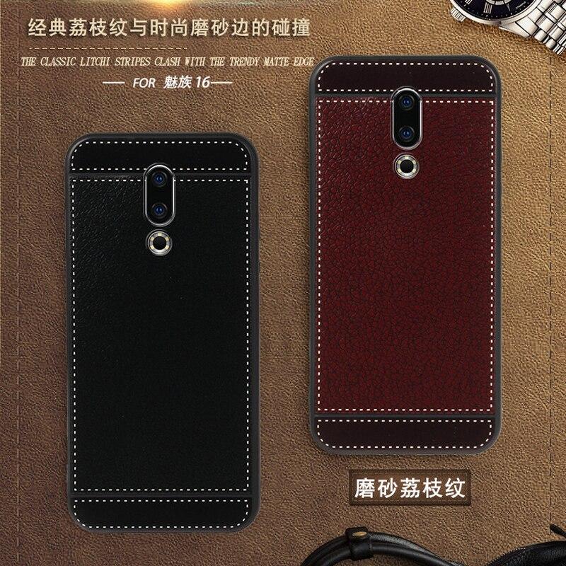 """Принципиально для Meizu 16 16th M882Q 6,0 """"кожаный чехол мягкий черный силиконовый чехол для Meizu 16th 16 6GG 128 ГБ 16th 6 ГБ 128 ГБ чехол люкс"""