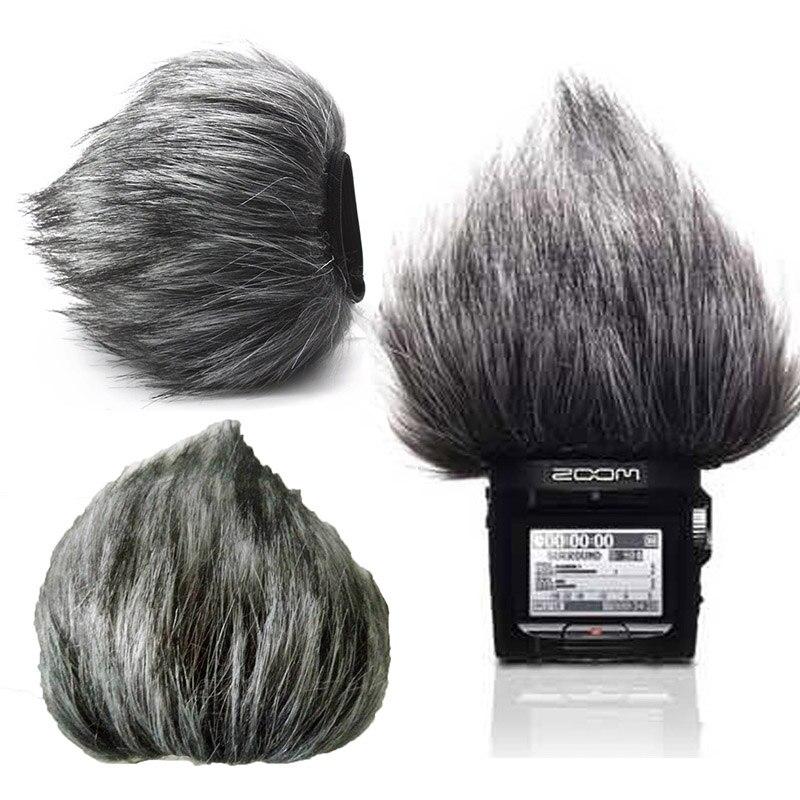 Profession Microphone Furry Vent Pare-Brise Couverture Fusil de Chasse Enregistreur MIC Protecteur Pour ZOOM H1 H2N H5 H6 Enregistrement Vocal Stylo NOUVEAU