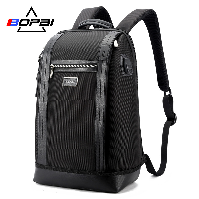 BOPAI Men Backpack USB External Charge Port Backpack Computer Bag Shoulders Anti-theft Backpack 15.6 inch Waterproof Laptop Bags bopai laptop backpack with usb external charging port for 15 6 inch laptop men anti theft waterproof large capacity travel bag