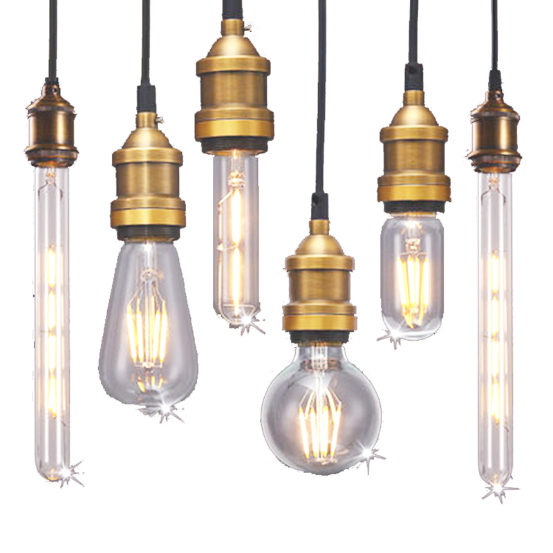 Retro Vintage Edison LED Bulb E27 Filament LED Lamp 2W 4W 6W 8W LED Light Glass Bulb 220V 240V Lampada Ampoule LED Bombilla ampoule vintage led edison light bulb e27 e14 220v led retro lamp 2w 4w 6w 8w led filament light edison pendant lamps bombillas