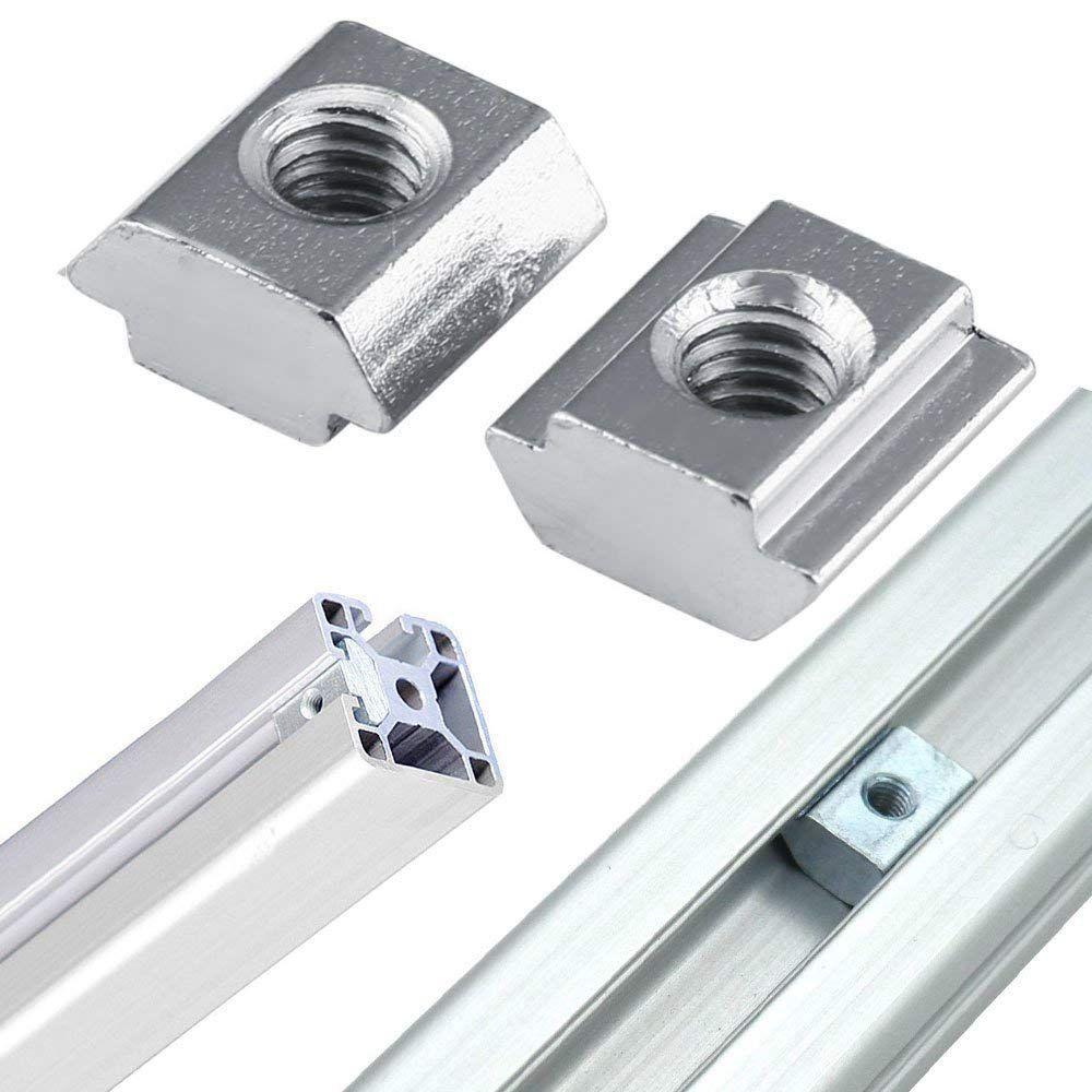 40pcs Right Angle Bracket Connectors M5 T-Nut Screws Aluminum Extrusion Profile