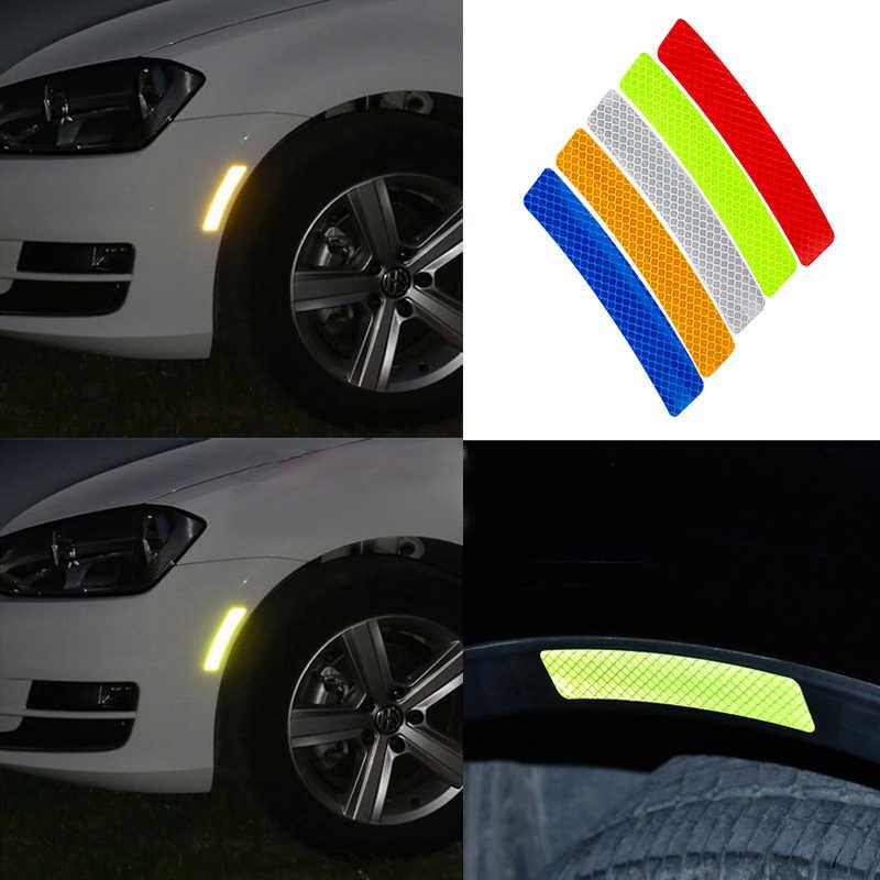 2pcs Car Wheel eyebrow Reflective warning stickers waterproof decorative stickers For KIA Cerato Sportage R K2 K3 K5 Accessories