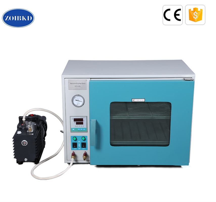 ZOIBKD DZF-6010 Stainless Steel Small Industrial Lab Drying Oven 0.28Cu Ft 8L Digital Degassing Drying OvenMini 2XZ-B portable kh 101 0s pointer stainless inner drying oven constant temperature blast drier industrial drying cabinet instrument baking box
