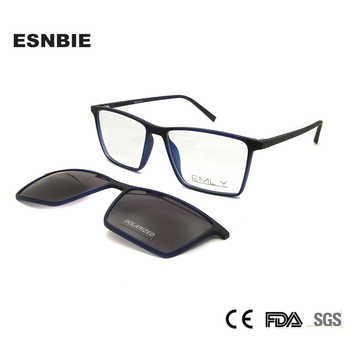 ESNBIE Ultralight TR90 Magnetic Eyeglasses Frame Women Spectacles Polarized Clip On Sunglasses For Men Square Oculos De Grau - DISCOUNT ITEM  20% OFF All Category