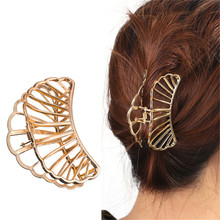 Fashion Geometric Square Moon Hair Claws Women Vintage Jewelry Gold Metal Crab Clip Wedding Accessories Hairpin