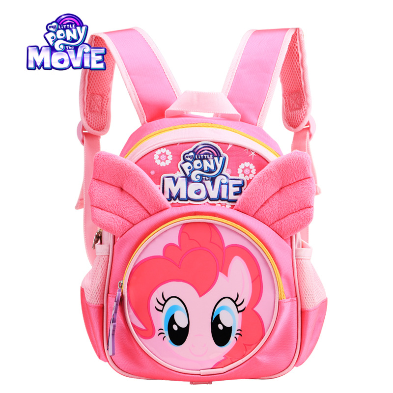 Genuine My Little Pony Children's backpack kindergarten cute girl bags cartoon Large capacity travel storage backpack-in Backpacks from Luggage & Bags