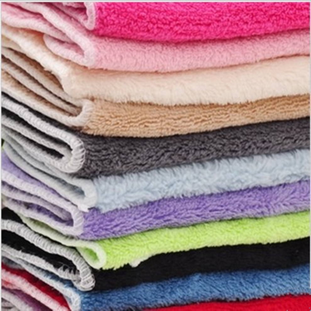 New 2017 Kitchen Towel 10pcs/lot 25x25cm Microfiber Towels Quick Dry  Cleaning Rag Small Towels Dish Cloth Wiping Napkin