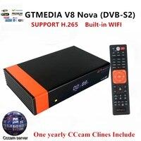 Satellietontvanger FREE SAT V8 Nova DVB S2met 1 Jaar Europa Cccam 4 clines Full HD 1080 p Ondersteuning H.265 Spanje frans UK Du