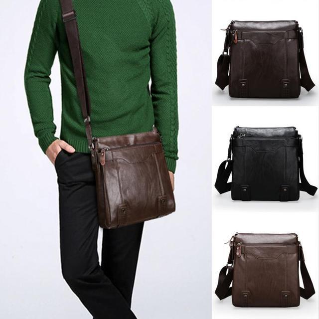 Fashion Pu Leather Men S Messenger Bags Man Portfolio Office Bag Quality Travel Shoulder Handbag For