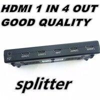 1080P 3D Mini 4 Port HDMI Splitter Switcher 1x4 1 In 4 Out HDMI Distributor Splitter