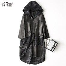 Autumn Winter Coat Women Clothes 2018 Korean Real Genuine Leather Jacket Sheepskin Coat Hooded Slim Coats Chaqueta Mujer ZT997