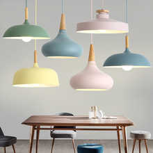 LED Hanglamp Vintage Loft Pendant Lights/Pendant Lamps Aluminum Suspension Luminaire Wood Hanging Lightings Kitchen Lustre Lampe