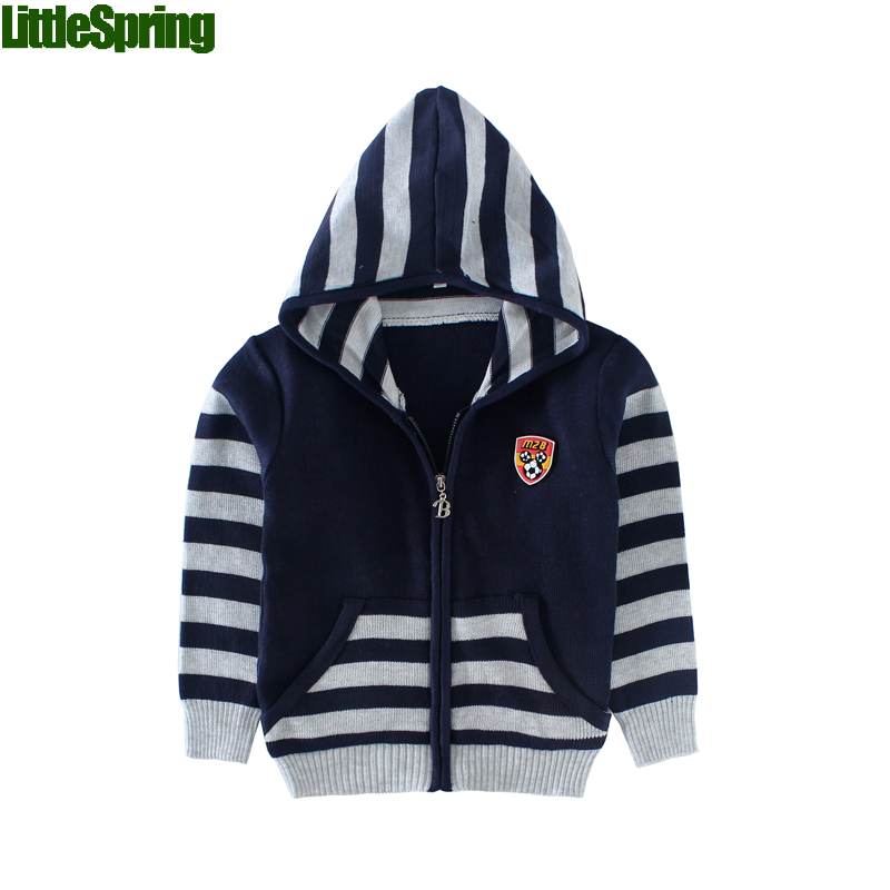 Boys Stripe Zipper Hooded Sweater toddler cardigans kids sweaters boys baby boy  sweater - High Quality Toddler Boy Sweater Promotion-Shop For High Quality