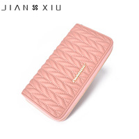 JIANXIU Genuine Leather Women Wallet New Design Long Wallets High Quality Female Clutch Big Fashion Capacity