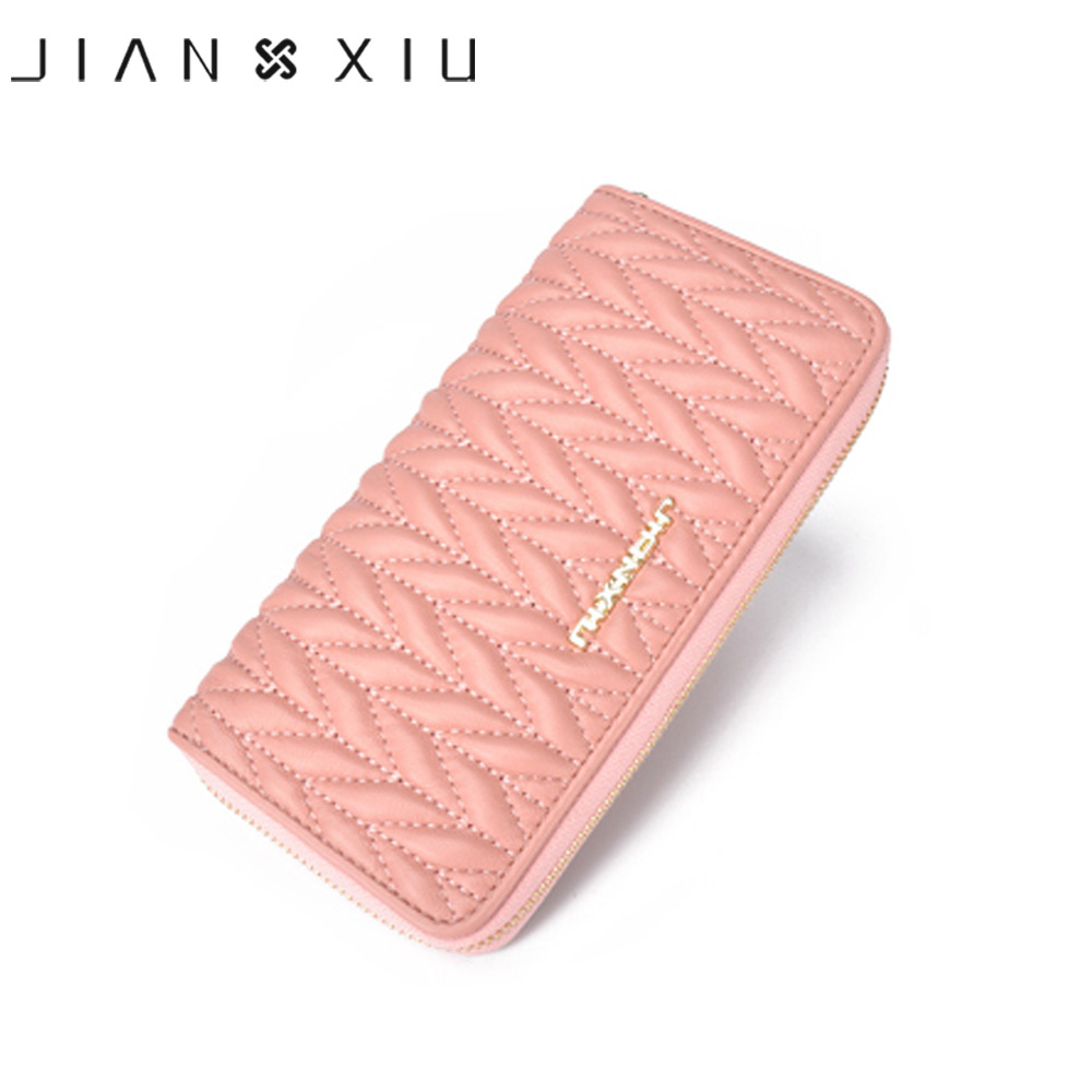 JIANXIU Genuine Leather Women Wallet New Design Long Wallets High Quality Female Clutch Big Fashion Capacity Purse Phone Pocket high quality floral wallet women long design lady hasp clutch wallet genuine leather female card holder wallets coin purse