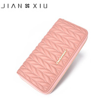 JIANXIU Genuine Leather Women Wallet New Design Long Wallets High Quality Female Clutch Big Fashion Capacity Purse Phone Pocket