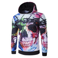 Male 3D Harajuku Skull Printed Hooded Pullovers New Arrival Men's Hoodies Outwear Spring Autumn Long Sleeve Sweatshirts