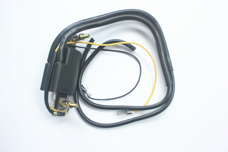 12v Ignition Coil Points Twin Lead 2 Wires For <font><b>Honda</b></font> <font><b>Gl</b></font> 1000 Cb 200 400 <font><b>500</b></font> For Suzuki Gs <font><b>500</b></font> 550 750 For Kawasaki Z 400 <font><b>500</b></font> 650 image