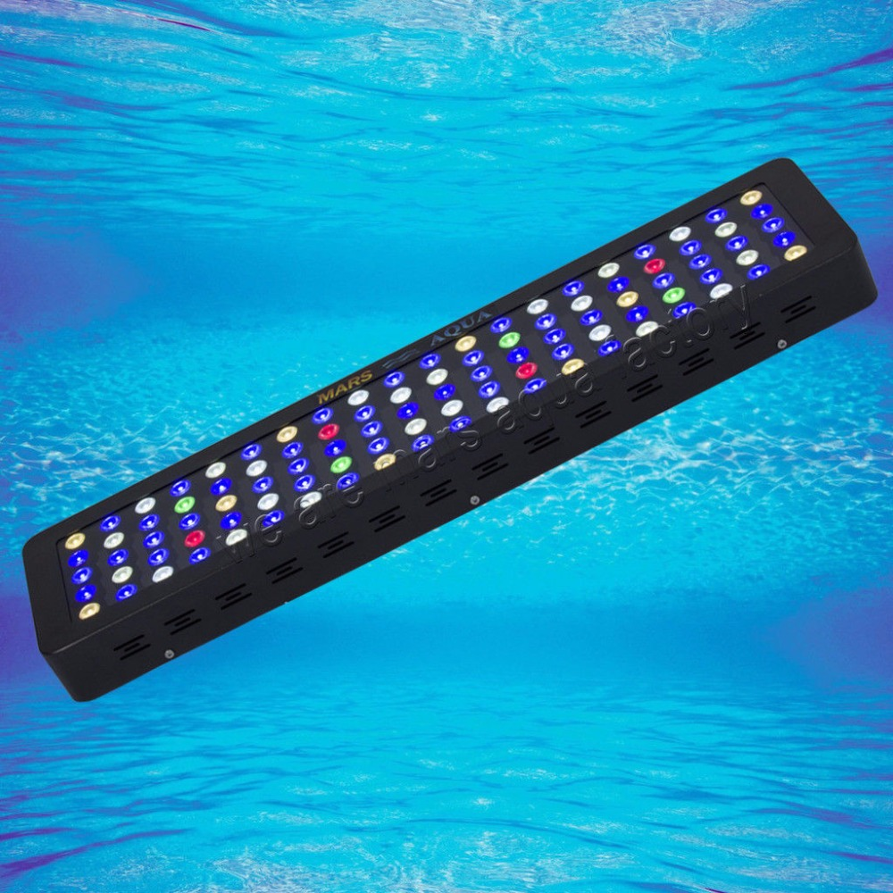 MarsAqua Dimmable 300W LED Aquarium Light Full Spectrum Reef Coral Marine programmable romote 300w aquarium wireless dimmable controller phantom led light 100x3w sunrise sunset coral reef led lighting