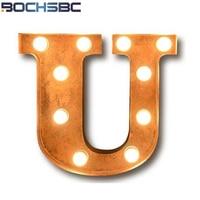BOCHSBC Vintage Alphabet U luz Art Deco Logo Wall Sconce LED lámpara para Café Bar salón comedor pasillo corredor Lampada