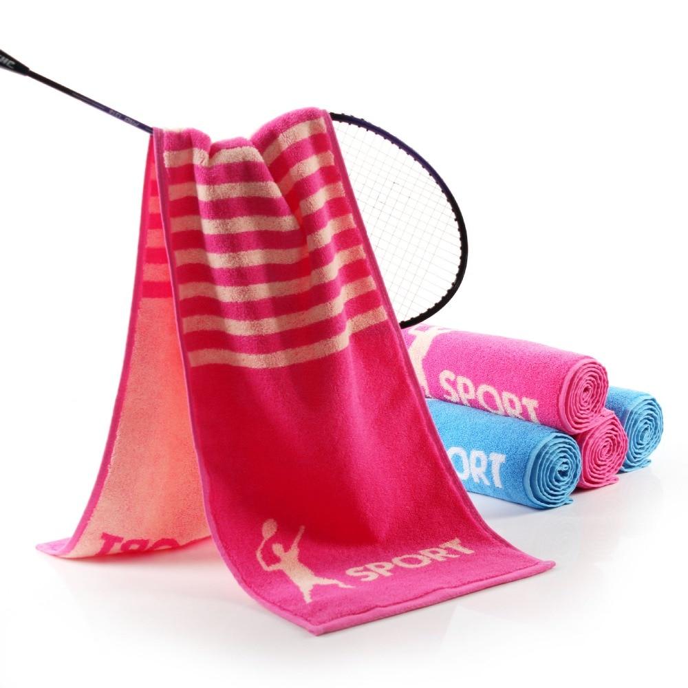 Basketball Sweat Towels: Wholesale 2pcs/lot 26.5*110cm 100% Cotton Gym Towels