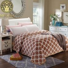 Medusa excelle flannel fisher net warm throw blanket bedspread quilt