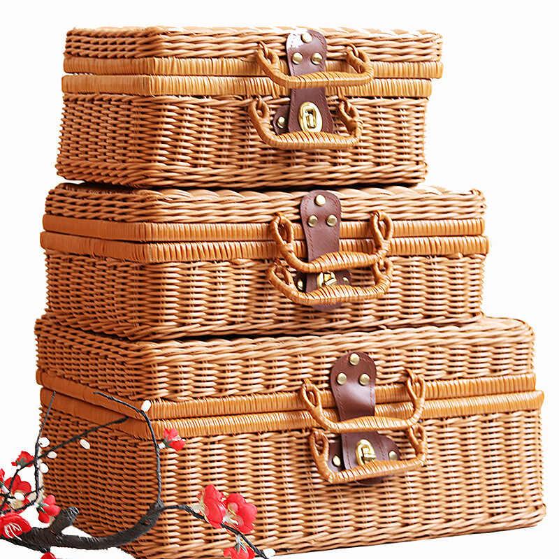 97383d37e3c6 2019 hand-woven bag rattan straw handbag ladies bamboo Square beach bag  summer bohemian style woven embroidery handbagr bag