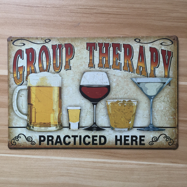 "Beer Wall Decor metal tin signs ""group therapy beer "" wall art home decor vintage"