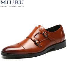 MIUBU Big Size 48 Men Dress Shoes 2019 New Fashion Casual Gentlemen Slip On Leather Formal Business