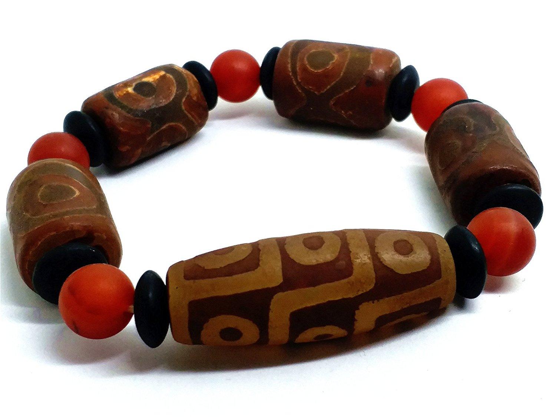 Koraba Fine Jewelry Tibet Dzi Monk Prayer Worry Old Agate Bead Bracelet Prayer Free Shipping youcat youth prayer book