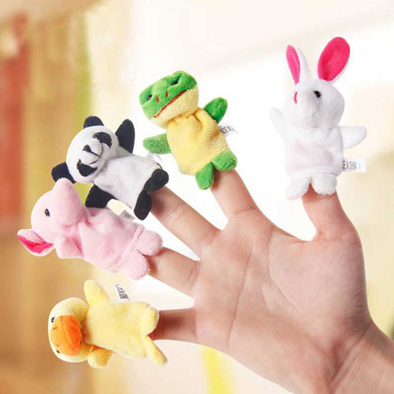 10 pcs Baby Plush Toy Finger Puppets Tell Story Props Animal Doll Hand Puppet Kids Toys Children Gift
