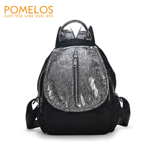 POMELOS Backpack Women 2019 New Arrival Small Travel High Quality Mesh Luxury Sequin Girls Rucksack