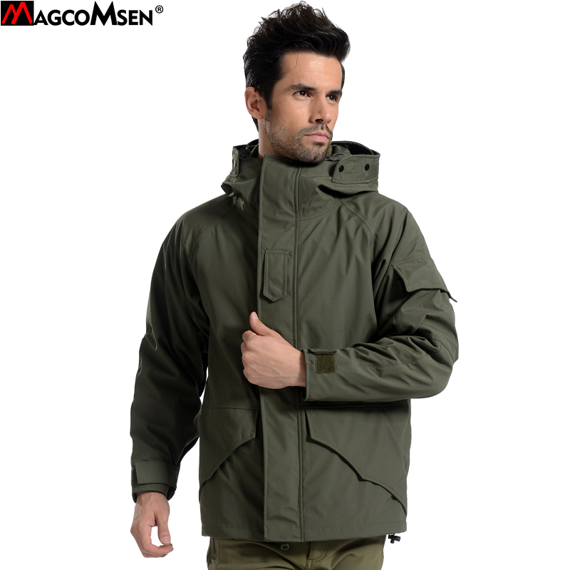 MAGCOMSEN G8 Man Army Camouflage Fleece Coat Military Hooded Jacket Waterproof Windbreaker Clothes Tactical Jacket Men AG-PLY-08