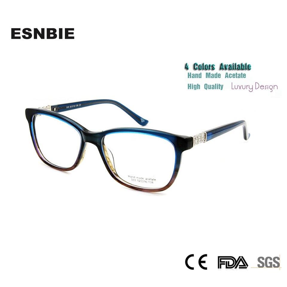 88555a541ea6 ESNBIE High Quality oculos feminino Rhinestone Eyeglass Frames Women  Optical Eyewear Designer Clear Lens Glasses Spectacles
