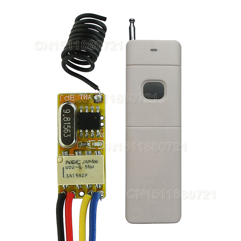 DC3V 3.7V 7V 9V 12V Mini Relay Wireless Switch Remote Control 3000M Power LED Lamp Controller Micro Receiver Transmitter System