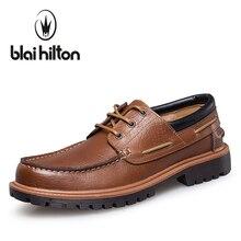 Blaibilton Низкий Топ люксовый Мужская обувь Повседневное Оксфорд Пояса из натуральной кожи классический мужской элегантные офисные Обувь в деловом стиле Для мужчин S SD5087