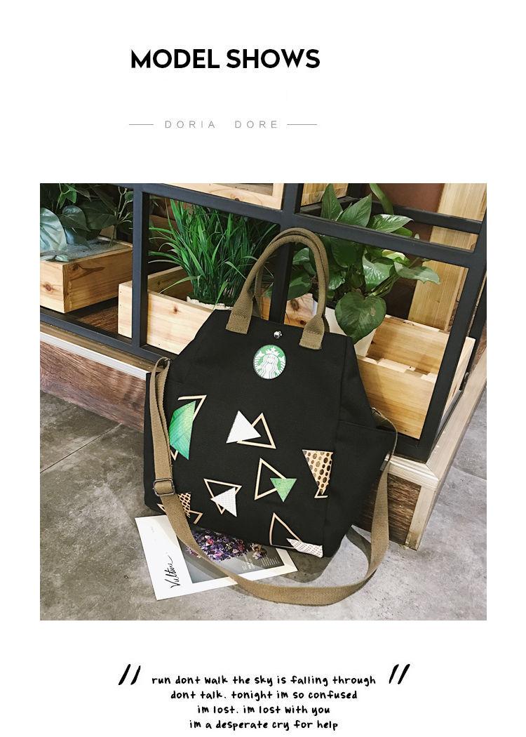 Canvas Bag Handbags Cloth-Bag Starbucks Shoulder Student Casual European Female Fashion