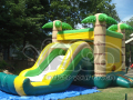 Jungle inflatable bouncer combo slide bounce house