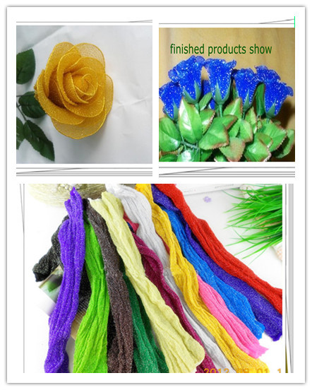 16 colors selected metallic stocking flower accessores/metallic silk flower craft/DIY flower accessories,30 pieces/lot,Free ship