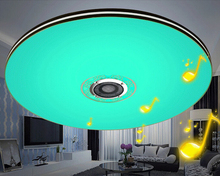 mumeng LED RGB Dimmable Ceiling Light Modern  Living room Lampada 32W Bluetooth Speaker Music Party Lamp Bedroom Fixture Russian