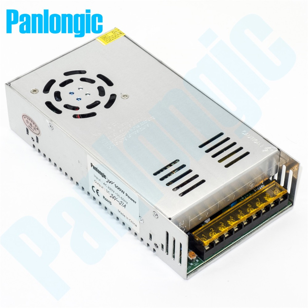 Monitoring Power Switching Power 24V 20A 500W Switching Power Supply Driver for LED Strip Lights AC 110/220V